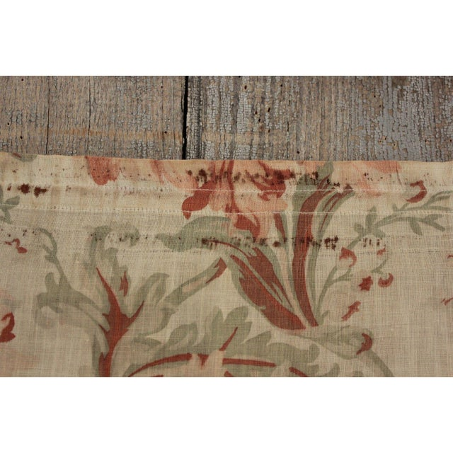 So delicate and lovely !This charming textile is an antique French cafe curtain dating c. 1900. This panel would have once...