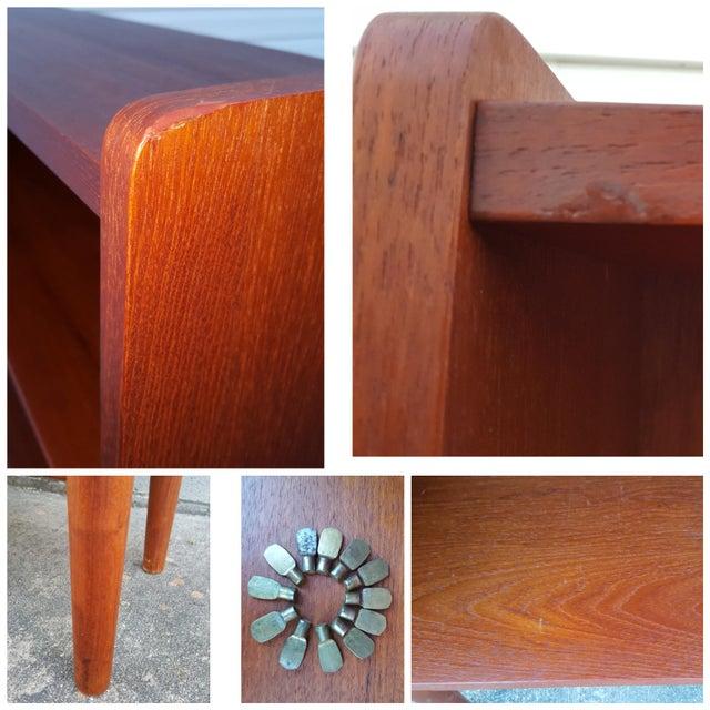 1960s Danish Modern Graduated Teak Bookcase Shelf For Sale - Image 12 of 12