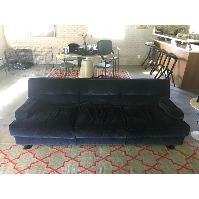 Blue Marco Zanuso Square Sofa, 1966 For Sale - Image 8 of 9