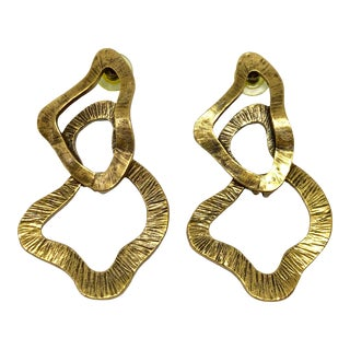 Oscar De La Renta Abstract Post Dangle Earrings For Sale