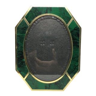 Vintage Faux Malachite Octagonal Picture Frame