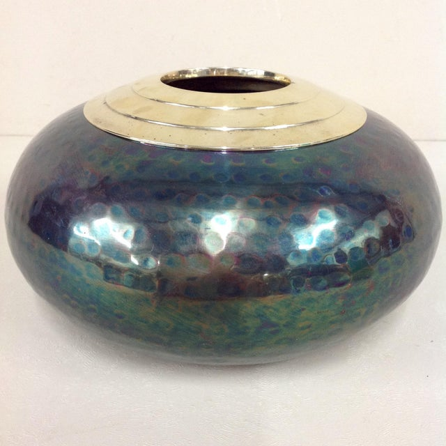 Here is an iridescent mixed metal vase in the style of Jean Dunand. I am really excited about this vase. I have never...