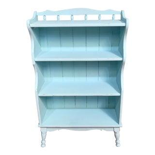Small Aqua Country Bookshelf