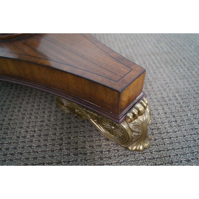 Maitland - Smith Maitland Smith Inlaid Top Regency Style Table For Sale - Image 4 of 10