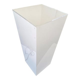 Vintage Illuminated Pedestal White and Clear Lucite For Sale