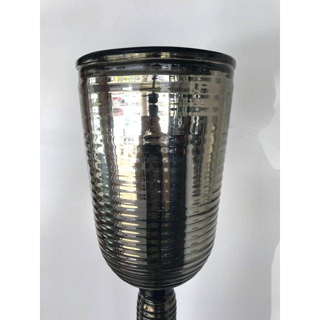 Italian Pair of Murano Mercury Floor Lamps by Fabio Ltd For Sale - Image 3 of 10