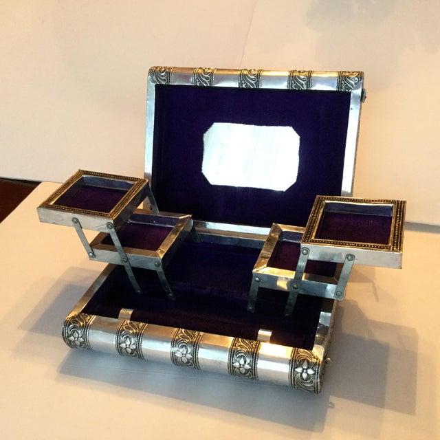Silver Metal Jewelry Box - Image 8 of 11