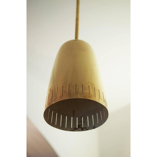 J.T. Kalmar Mid-Century Brass Hanging Lamp from Kalmar Vienna For Sale - Image 4 of 9