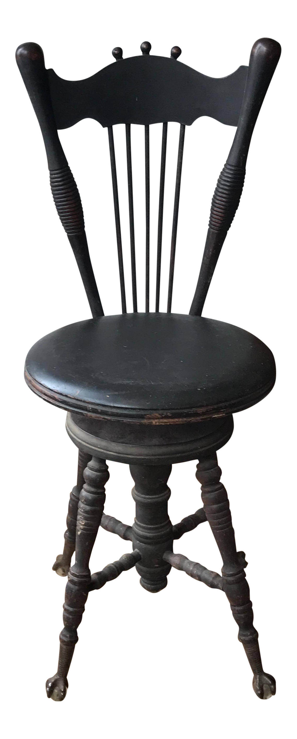 Victorian Piano Stool With Stick And Ball Backrest Chairish
