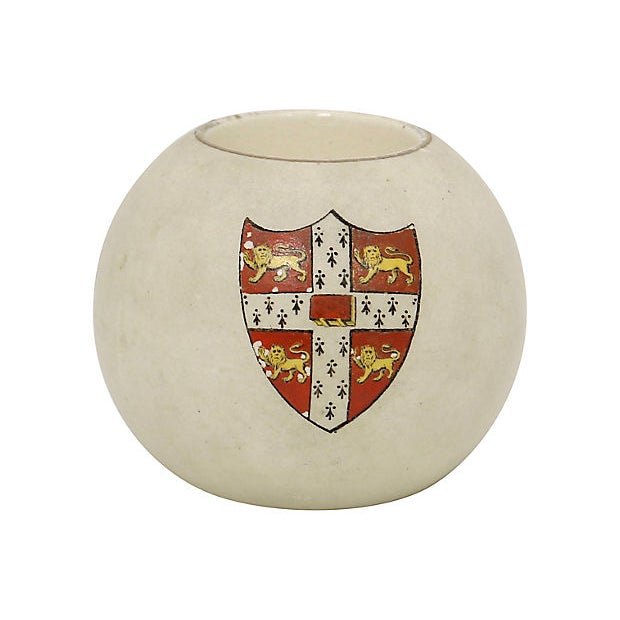 Antique Hand-Painted Cambridge University Match Holder For Sale - Image 4 of 4