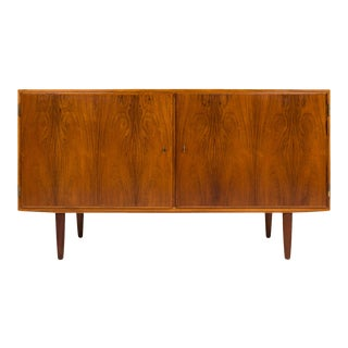Vintage 1960s Danish Mid-Century Rosewood Sideboard Credenza For Sale