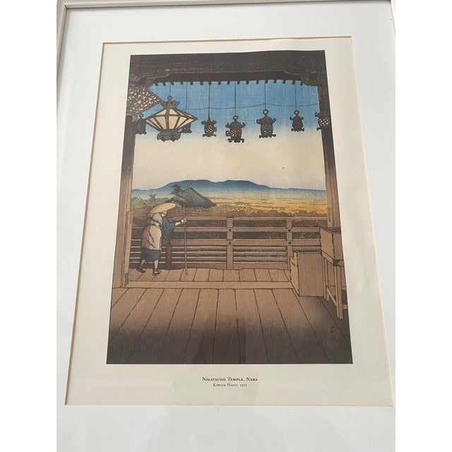 White Framed Japanese Woodblock Reproduction Prints After Kawase Hasui - Set of 3 For Sale - Image 8 of 13