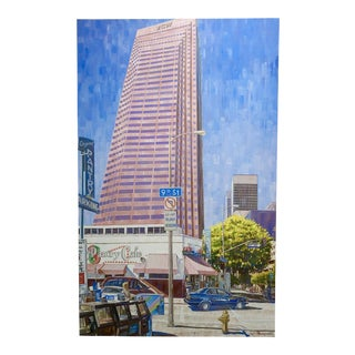 Jean-Pol D. Franqueuil -The Pantry Caffe Downtown LA-Oil Painting For Sale
