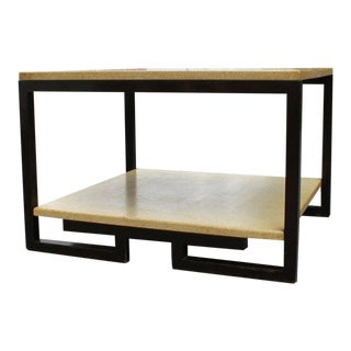 Paul Frankl 2-Tier Cork Table For Sale