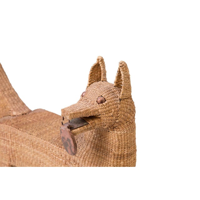Mario Lopez Torres Mario Lopez Torres Woven Reed and Copper Dog For Sale - Image 4 of 6