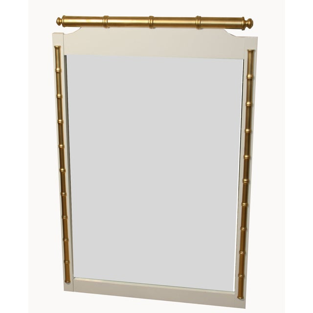 Regency-Style Faux-Bamboo Mirror - Image 2 of 4