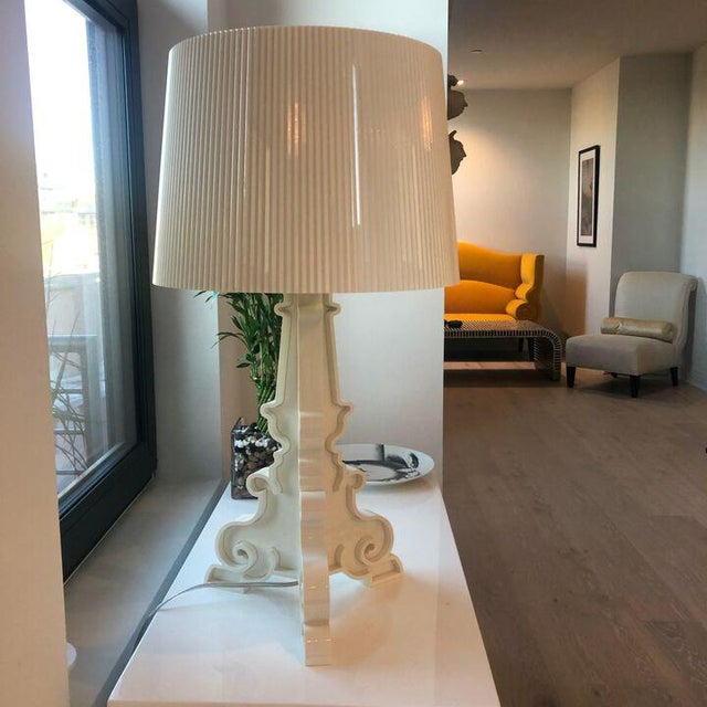 Bourgie Lamp by Kartell Cream/Gold With Shade For Sale - Image 9 of 9