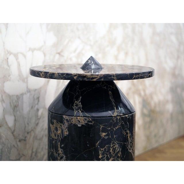 Black Portoro Marble Coffee Table by Karen Chekerdjian For Sale - Image 10 of 13