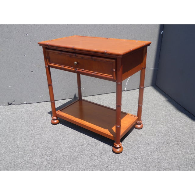 Restoration Hardware Tiki Palm Beach Style Nightstands - A Pair For Sale - Image 9 of 11