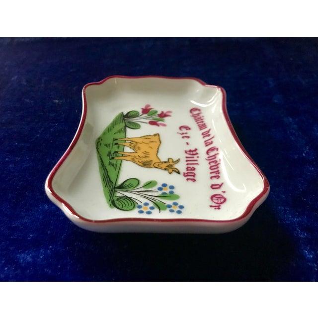 1950s Vintage Chateau De La Chèvre d'Or Eze Village French Limoges Trinket Soap Dish For Sale - Image 5 of 8