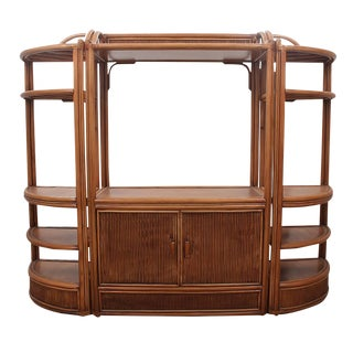 1980s Vintage Solid Bamboo Bibliothèque For Sale