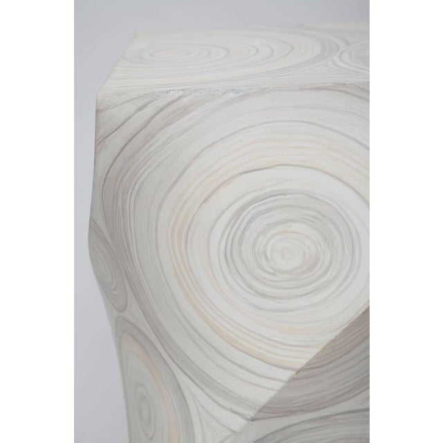 White 1970s Helix Twisted Fau Painted Agate Pedestals - a Pair For Sale - Image 8 of 11