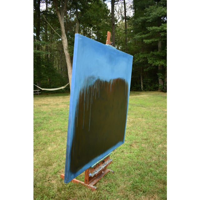 Canvas Large Abstract Painting by Stephen Remick For Sale - Image 7 of 11