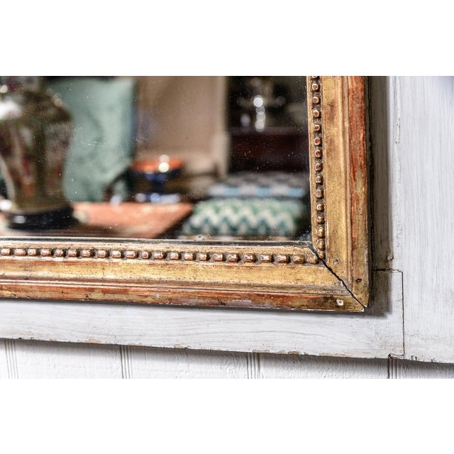 Antique Trumeau Mirror With Painting For Sale - Image 4 of 8