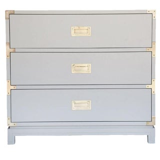 Small Carlyle Campaign Dresser in Grey For Sale