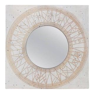 1960s William Wyman Studio Pottery Mirror For Sale