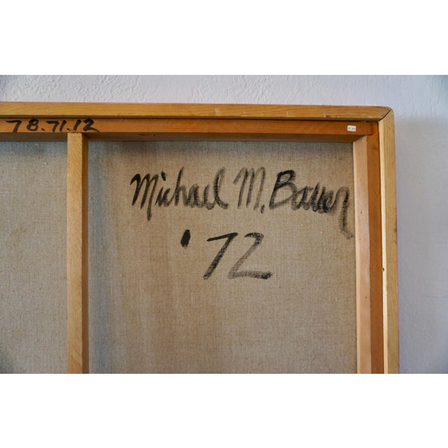 1970s Oil Painting by Michael Mark. Bauer 1972 For Sale - Image 5 of 9
