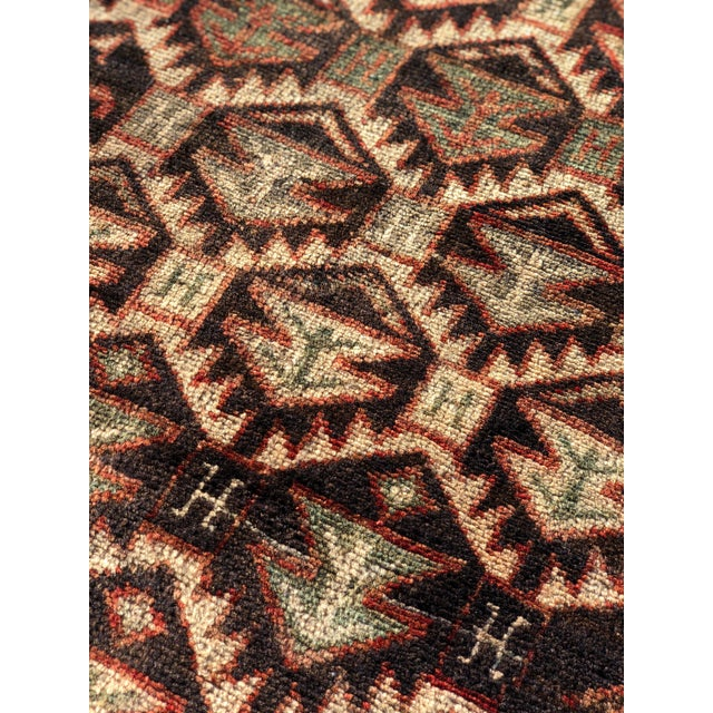 1950s Vintage Persian Meshkin Runner Rug - 3′10″ × 13′2″ For Sale - Image 12 of 13