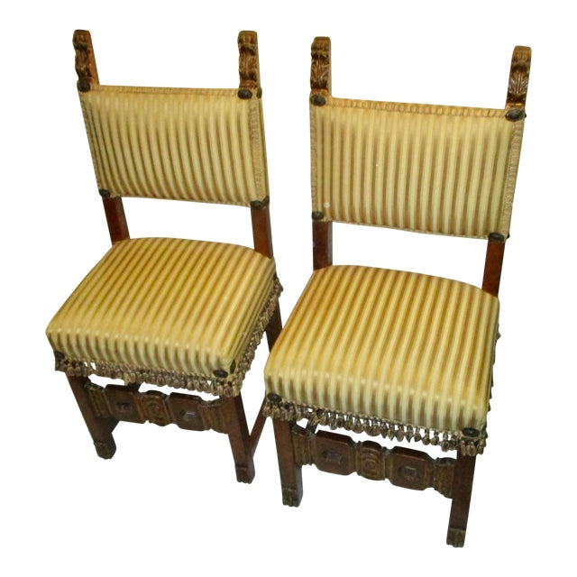 17th Century Style Italian Side Chairs - a Pair For Sale