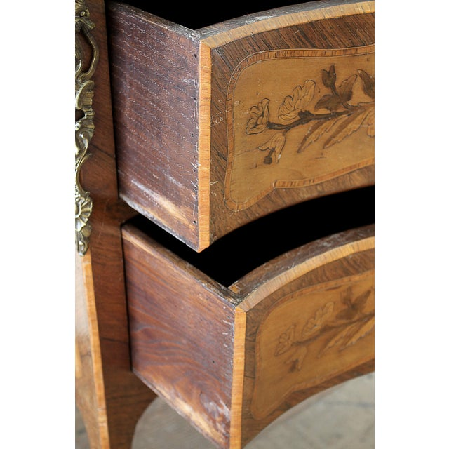 20th Century Louis XV Style Inlay Commode with Bronze Mounts For Sale - Image 9 of 13