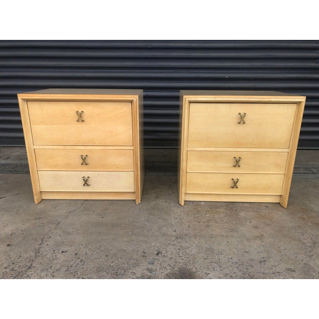 Mid Century Paul Frankl X Pull Nightstands- a Pair For Sale - Image 11 of 11