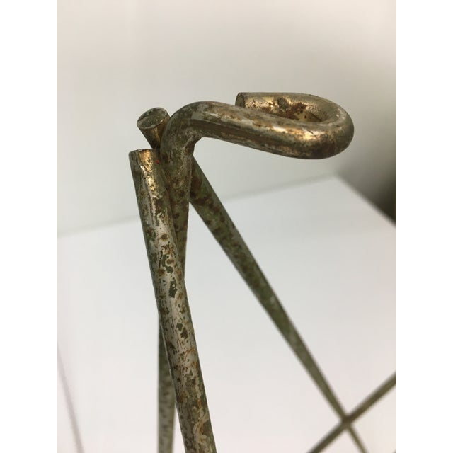 Gold Mid-Century Modern Steel Wire Side Table Bases - a Pair For Sale - Image 8 of 11