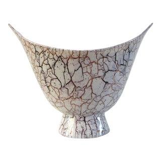 1950s Mid-Century Modern Royal Haeger Lilac & Gold Ceramic Vase For Sale
