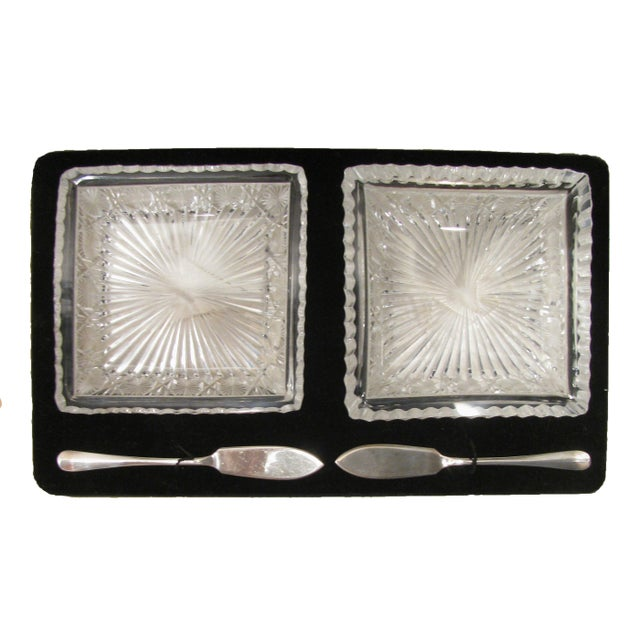 Mid 19th Century Antique English Crystal & Sterling Silver Pate Service, C.1860 For Sale - Image 5 of 5