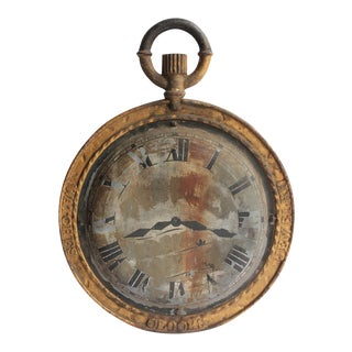 19th Century Vintage American Double Sided Watch Maker Trade Sign For Sale