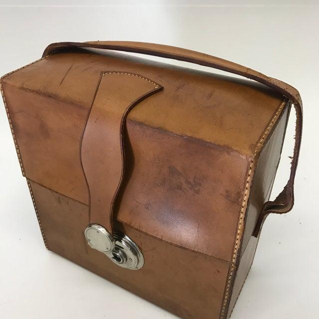 German Flask & Shaker Set Leather Case - Image 6 of 7