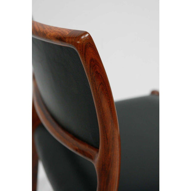 Wood Set Of 6 Rosewood Niels Moller Dining Chairs For Sale - Image 7 of 9