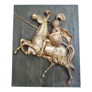 Mid Century Finesse Originals High Relief Jousting Knight For Sale