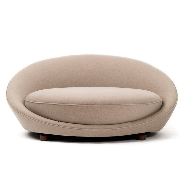 Fabric Milo Baughman for Thayer Coggin Upholstered Satellite Chaise For Sale - Image 7 of 7