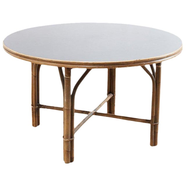 Ficks Reed Midcentury Rattan Dining Table For Sale