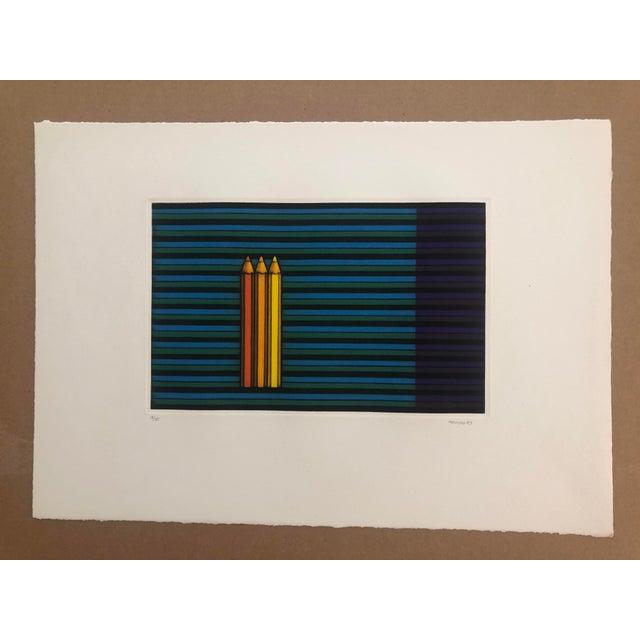 Kazuhisa Honda (born 1948) Three Pencils, 1983 Mezzotint, image: 7 1/4 x 11 5/8 inches