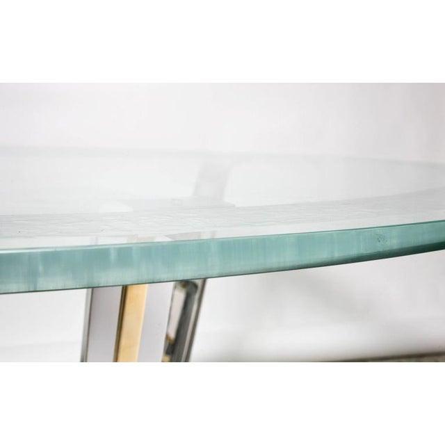 Art Deco Style Round Dining or Center Table, Chrome & Brass, Karl Springer - Image 5 of 11