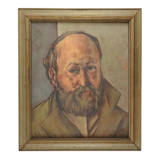 Impressionist Portrait Painting of Cezanne For Sale