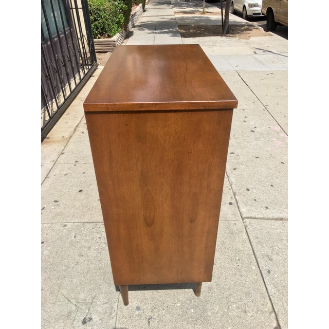 Mid-Century Highboy with Sculpted Pulls - Image 6 of 10