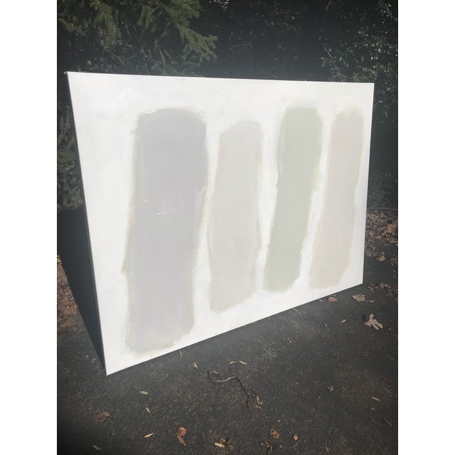 """Contemporary Sarah Trundle Contemporary Abstract Painting """"Color Study: Neutrals"""" For Sale - Image 3 of 10"""