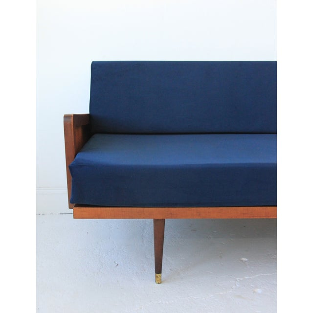 Vintage Mid Century Modern Navy Blue Sectional For Sale - Image 10 of 10